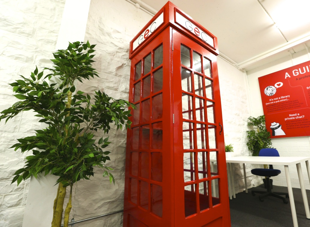 Telephone box in the GEC CoWorking space